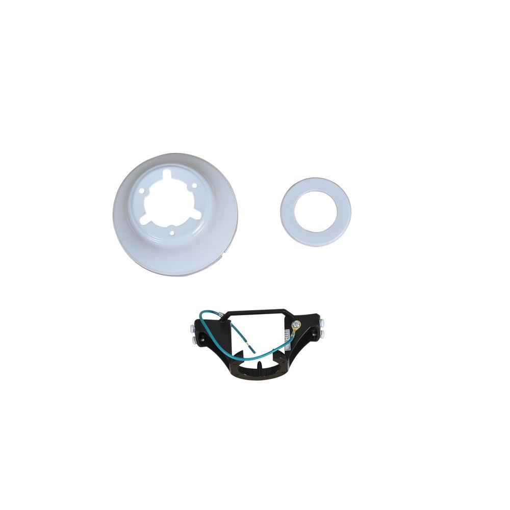 Glendale 42 in. White Ceiling Fan Replacement Mounting Bracket and Canopy
