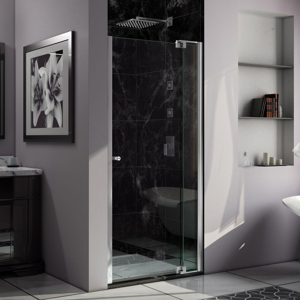 Dreamline unidoor lux 36 in x 72 in frameless pivot shower door in allure 35 in to 36 in x 73 in semi frameless pivot planetlyrics Gallery
