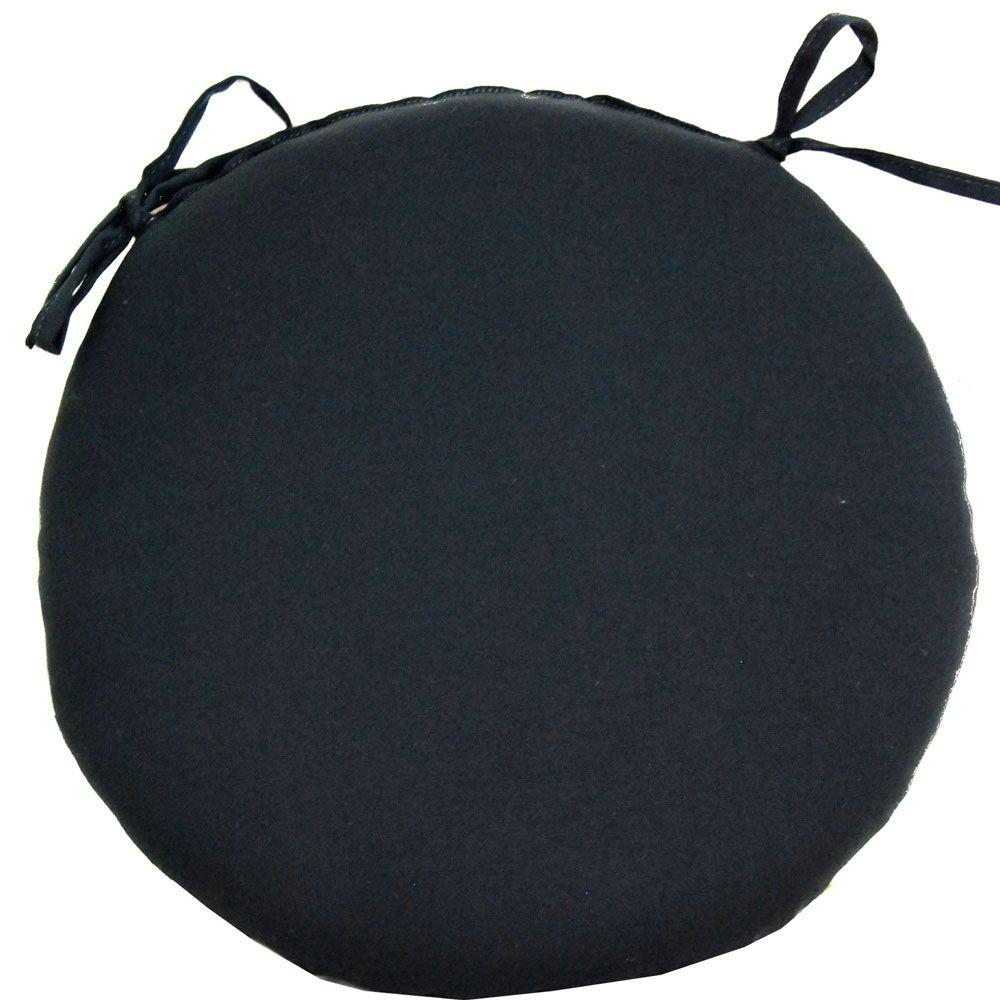 null Black Outdoor Bistro Seat Cushion-DISCONTINUED