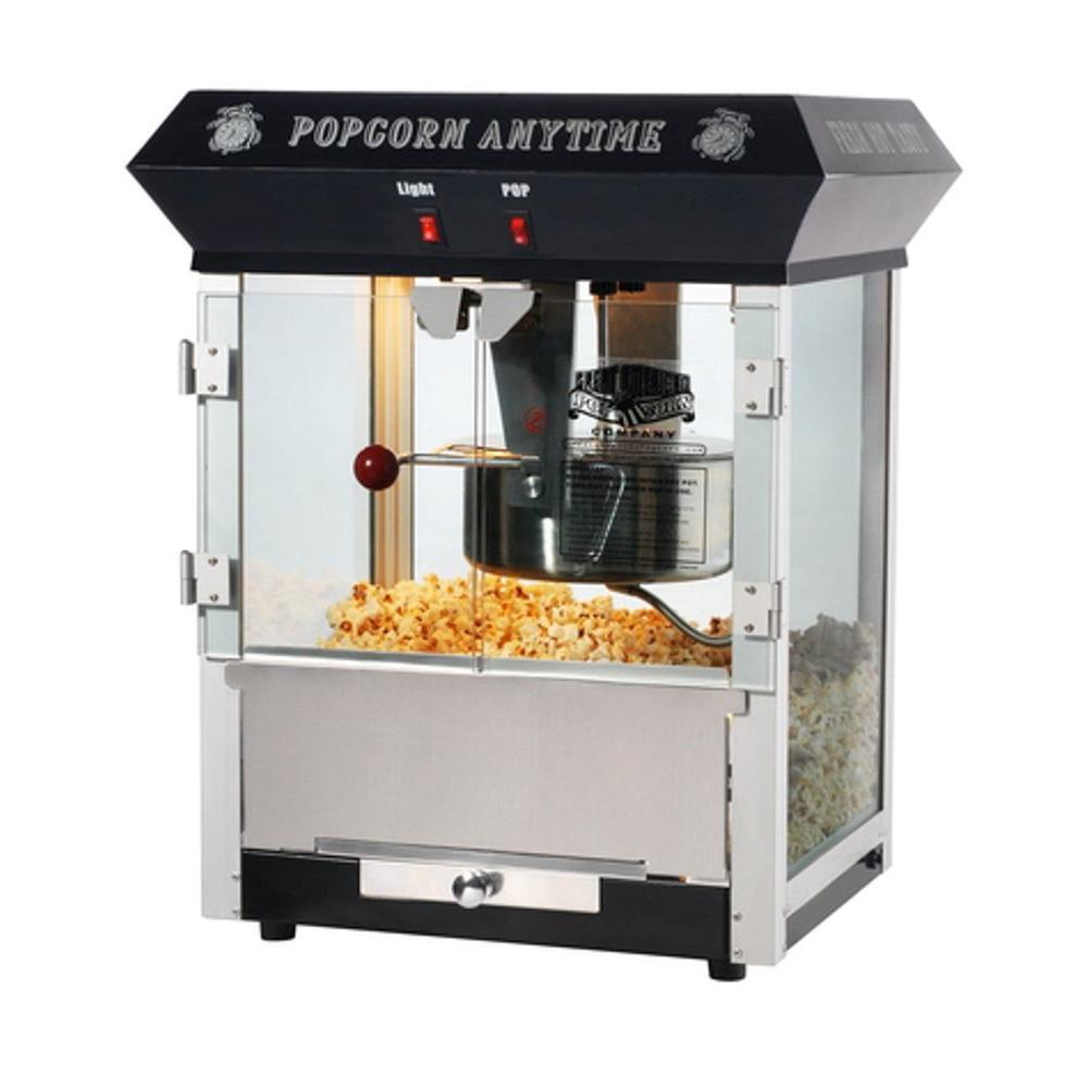 Great Northern Anytime Top Popcorn Popper Machine in Black-DISCONTINUED