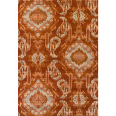 Tucson 7 Ikat Paprika 8 ft. 2 in. x 10 ft. Area Rug