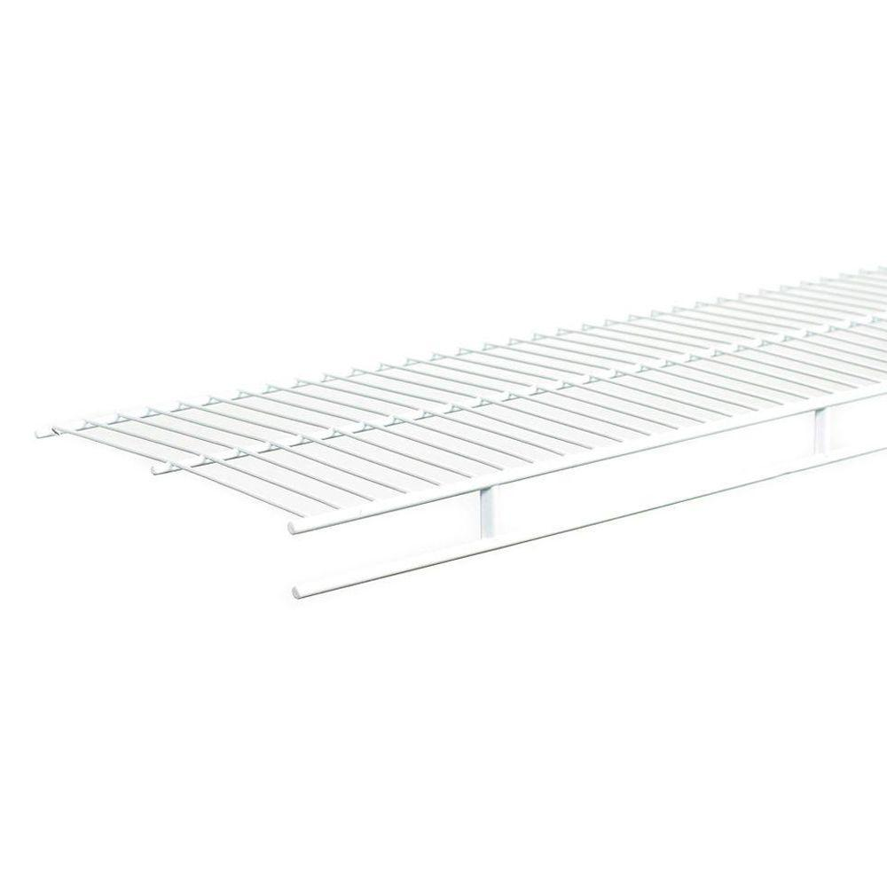 ClosetMaid 12 in. x 96 in. x 1.875 in. White Ventilated Steel Wall Mounted Wardrobe Shelf