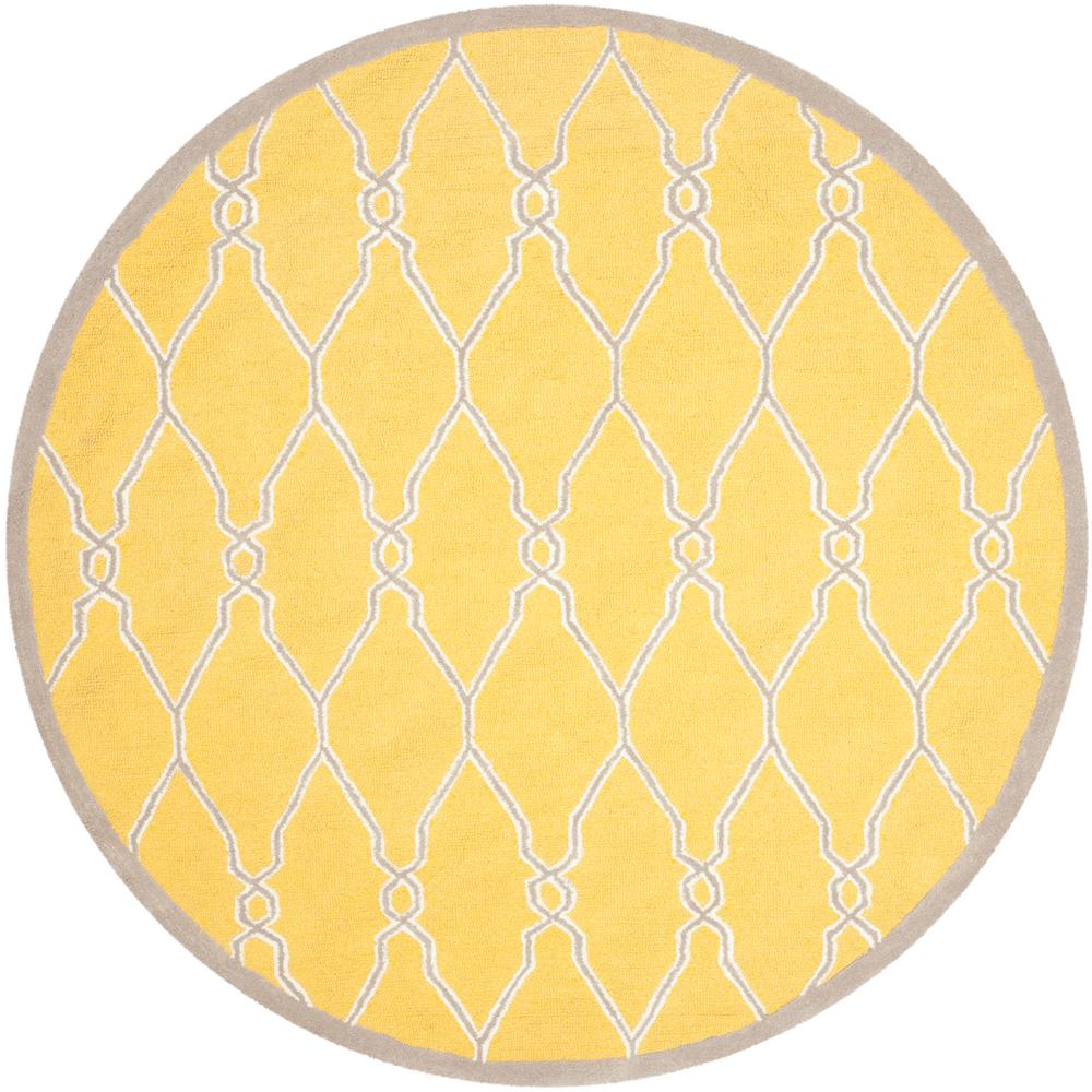 Safavieh cambridge gold ivory 6 ft x 6 ft round area rug for Where to buy round rugs