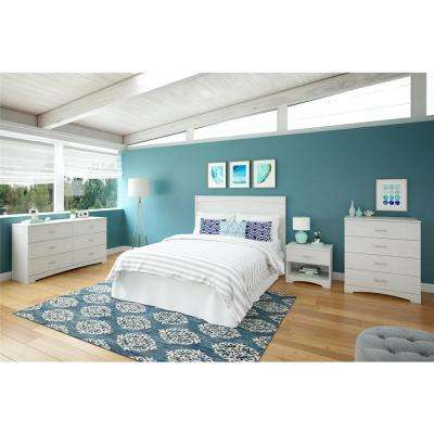 Crescent Point Full Size White Headboard