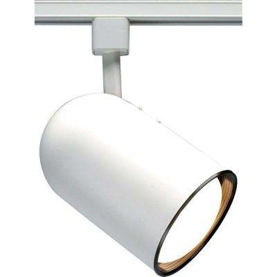 1-Light White Incandescent Track Lighting Head