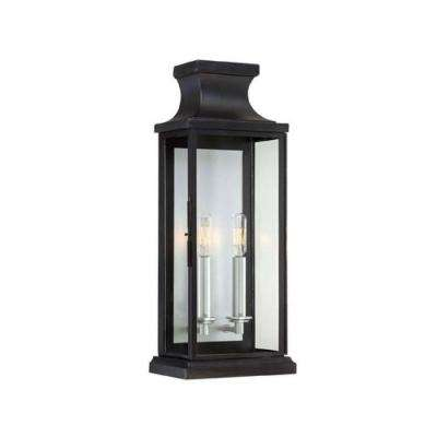 Appalacian 2-Light Black Outdoor Wall Mount Lantern