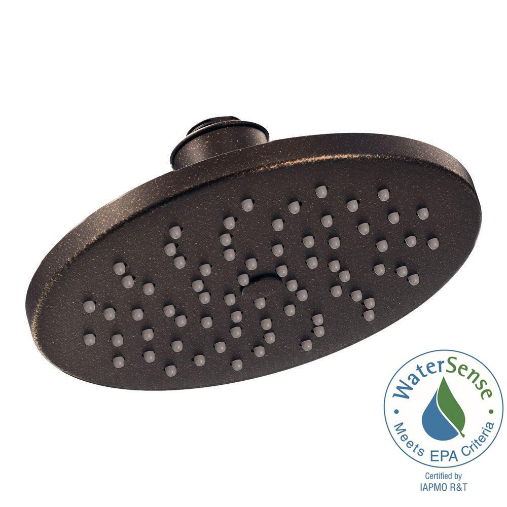 MOEN 1-Spray 8 in. Eco-Performance Rainshower Showerhead Featuring Immersion in Oil Rubbed Bronze
