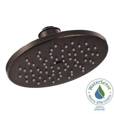 1-Spray 8 in. Eco-Performance Rainshower Showerhead Featuring Immersion in Oil Rubbed Bronze