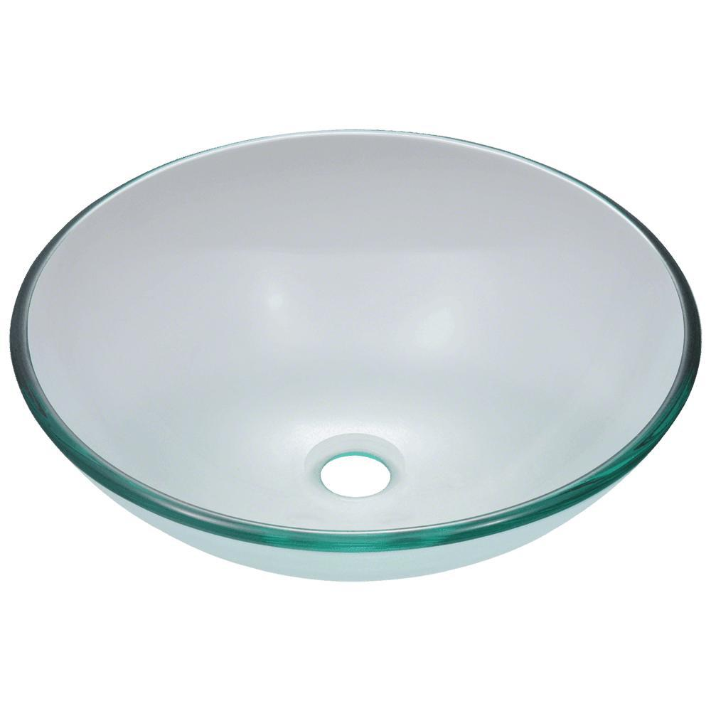Mr Direct Glass Vessel Sink In Crystal 601 Crystal The Home Depot