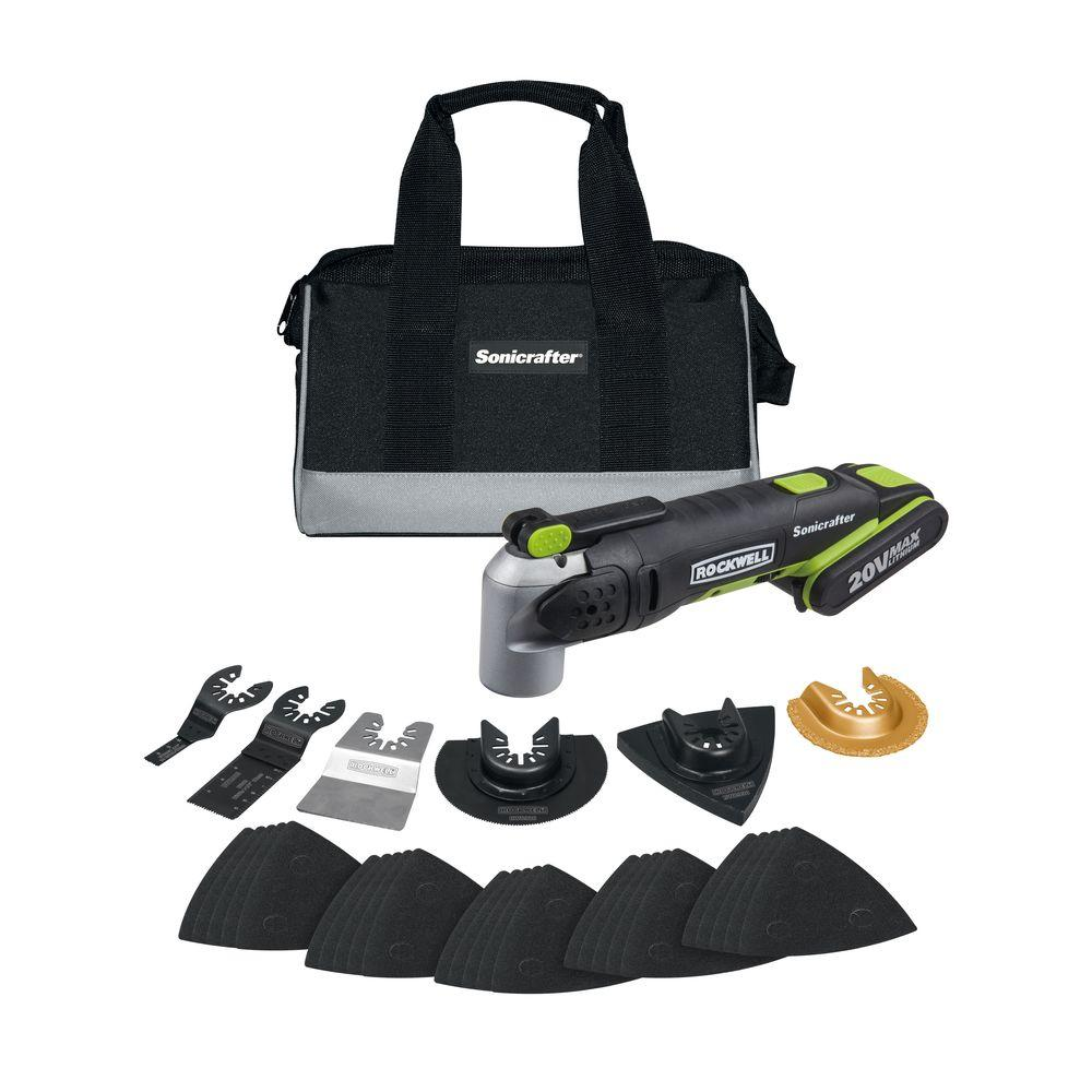 Rockwell 20-Volt Lithium-Ion Cordless Sonicrafter Kit (27-Piece)