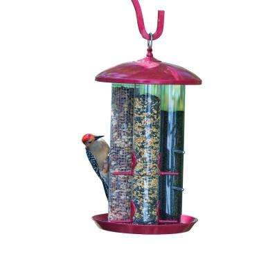 17.50 In. Tall Triple Seed Backyard Bird Feeder