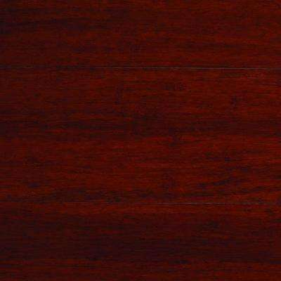 Take Home Sample Strand Woven Mahogany Bamboo Solid Flooring 5 In X 7