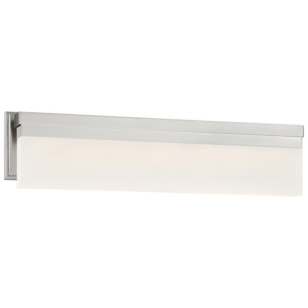 Skinny 40-Watt Brushed Nickel Integrated LED Bath Light