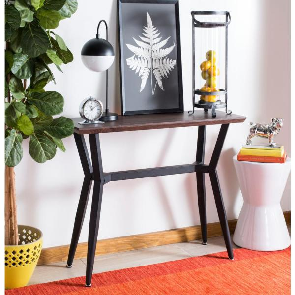 Safavieh Andrew Brown Oak Console Table CNS7002A