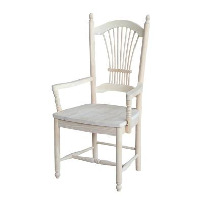 Unfinished Wood Sheaf Back Dining Chair