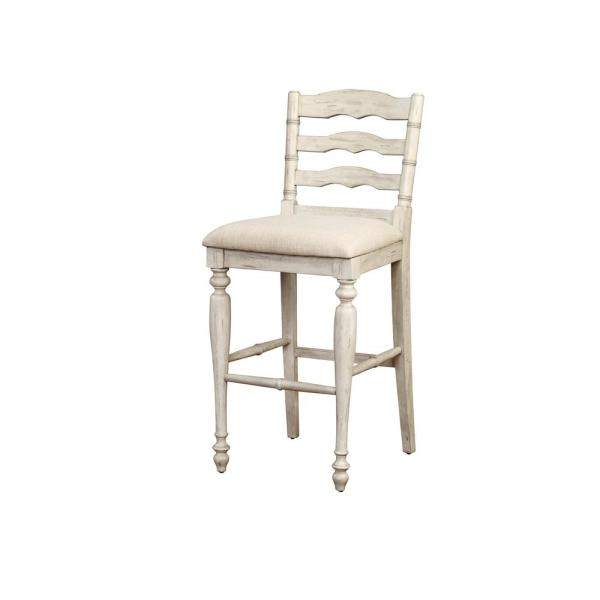 45 in. Marino Bar Stool- White Wash