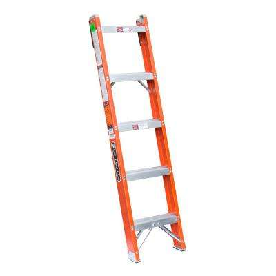 5 ft. Fiberglass Shelf Ladder with 300 lb. Load Capacity Type IA Duty Rating