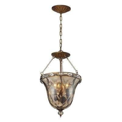Cheltham 3-Light Mocha Ceiling Mount Pendant