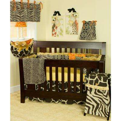 Sumba 55 in. L Cotton Valance Brown Animal Print