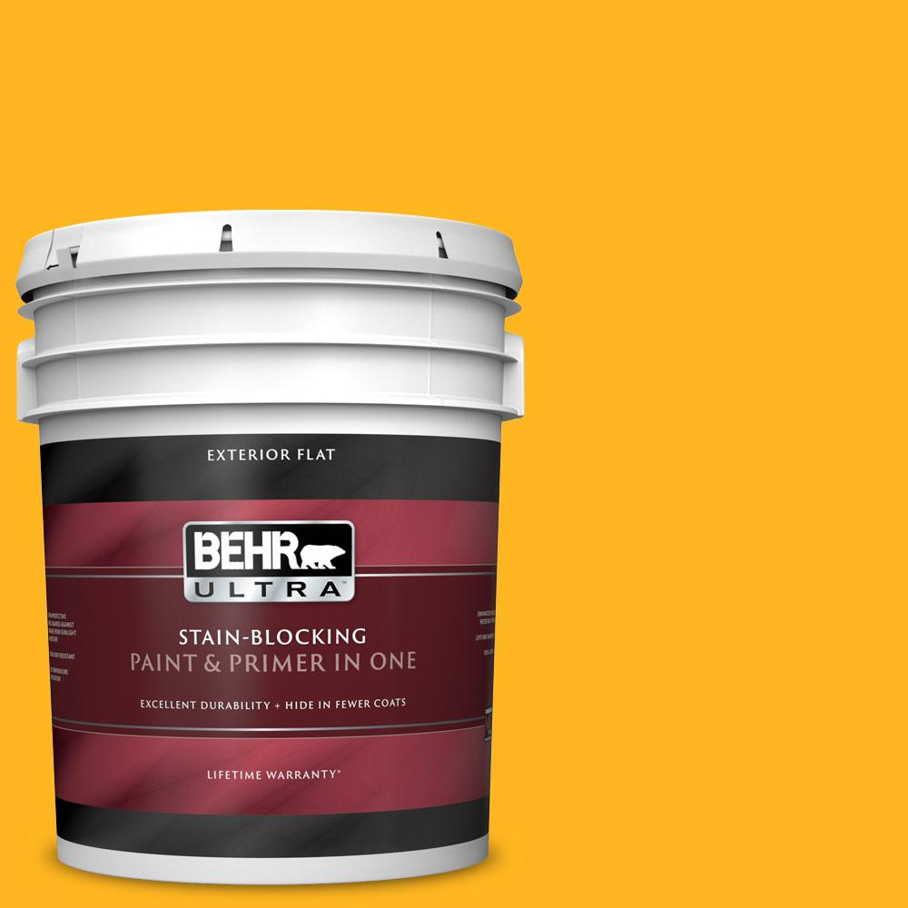 Behr Ultra 5 Gal P260 7 Extreme Yellow Flat Exterior