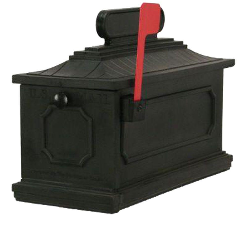 1812 Architectural Plastic Mailbox in Black