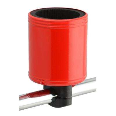 Kroozercups Drink Holder 2.0 Fits Bars from 5/8 in. to 1-3/8 in. with New Super-Tight Grip in Red