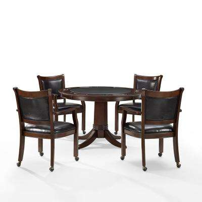 Reynolds 5-Piece Rustic Mahogany Game Table Set