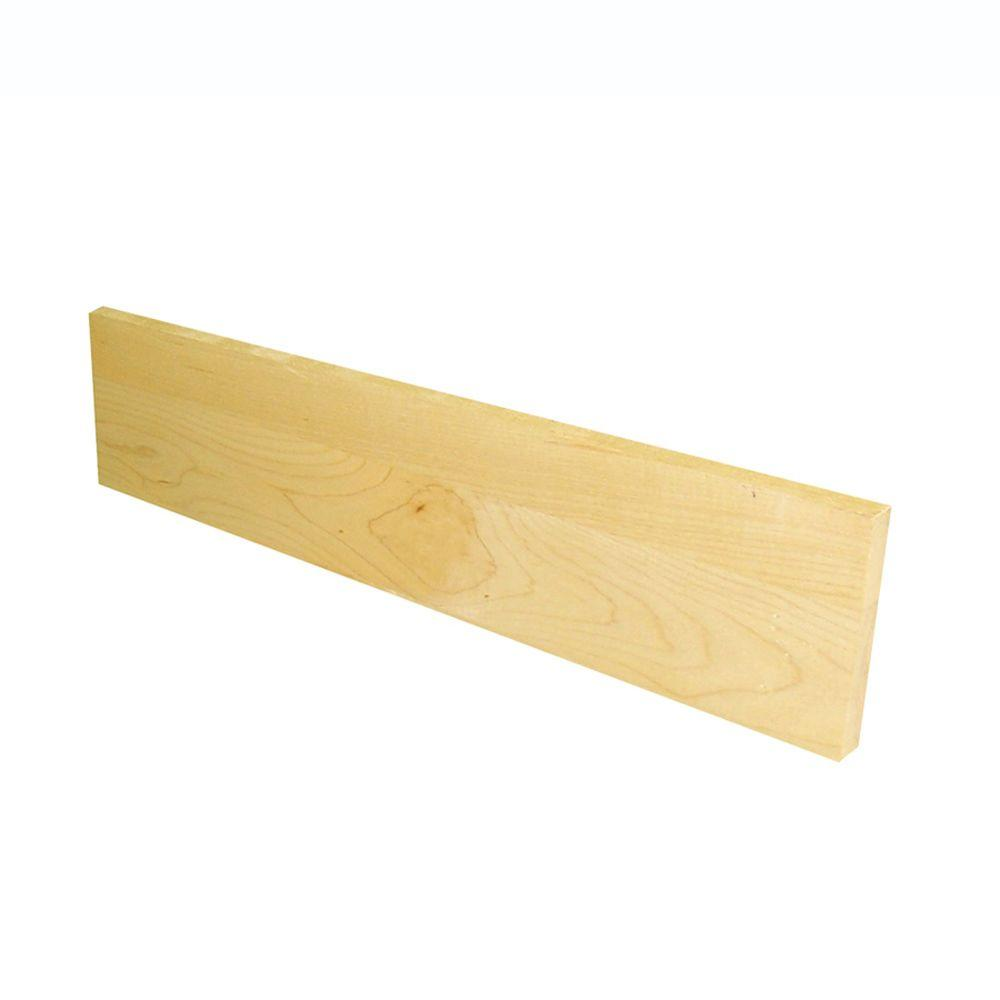 0.75 in. x 7.5 in. x 36 in. Prefinished Natural Maple