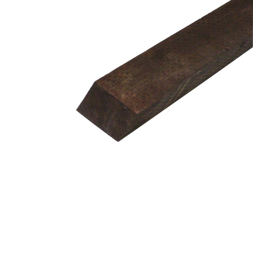 null Pressure-Treated Timber HF Brown Stain (Common: 4 in. x 4 in. x 6 ft.; Actual: 3.56 in. x 3.56 in. x 72 in.)