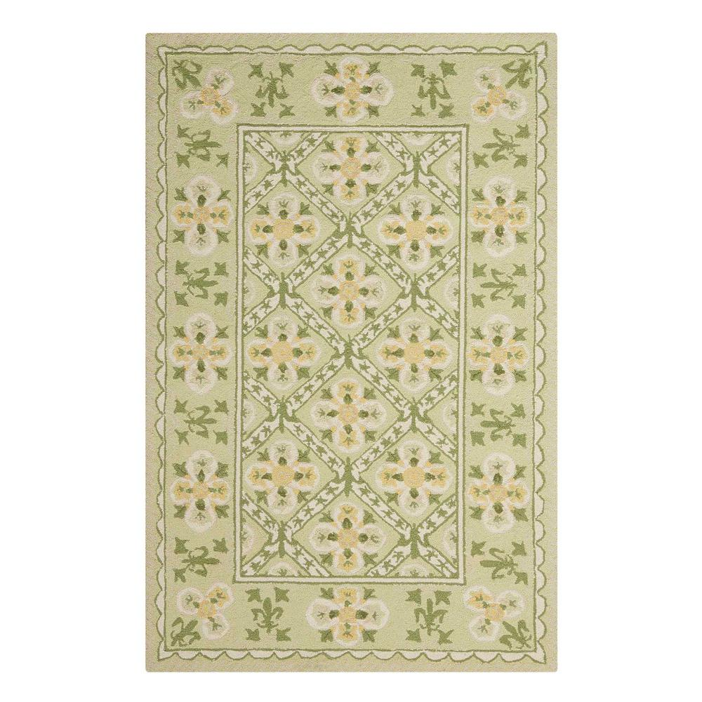 Nourison Overstock Country Heritage Green 3 ft. 6 in. x 5 ft. 6 in. Area Rug