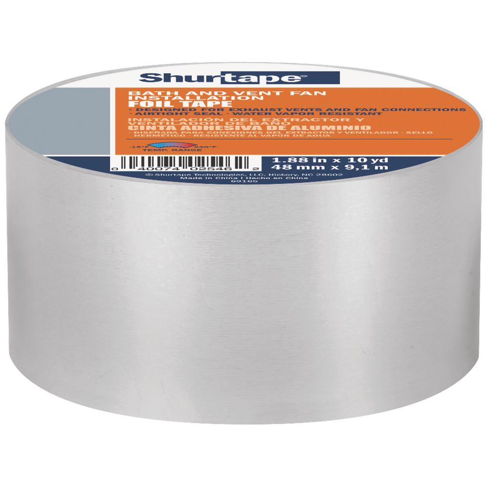 ac243fc6648 Shurtape 1.88 in. x 10 yds. Aluminum Foil Repair Tape-241588 - The ...