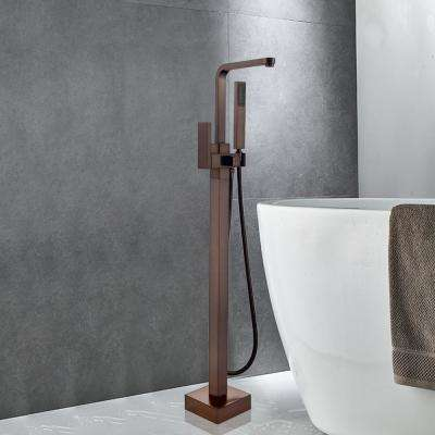 42 in. H x 6 in. W Single-Handle Claw Foot Tub Faucet with Hand Shower in Oil Rubbed Bronze