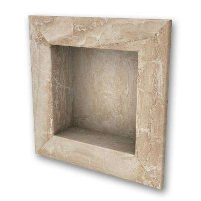 11 in. x 11 in. Square Recessed Shampoo Caddy in Alaskan Ivory