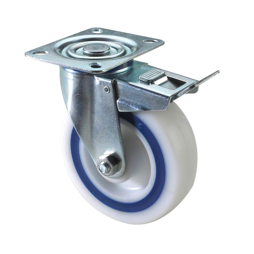 Richelieu Hardware Heavy Duty Double Race Industrial Caster 150 kg - Swivel with brake Sanswich Caster - 5 In.-DISCONTINUED