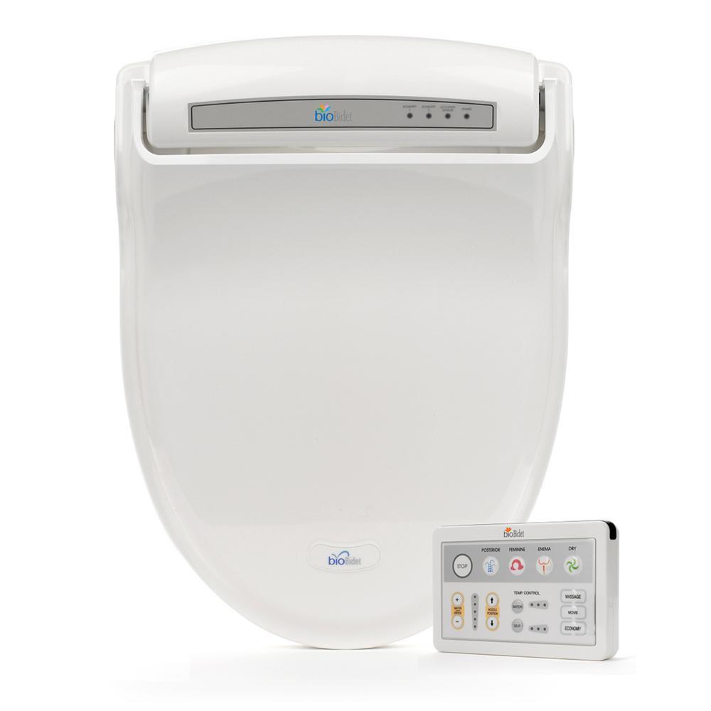 bioBidet Supreme Electric Bidet Seat for Round Toilets in White