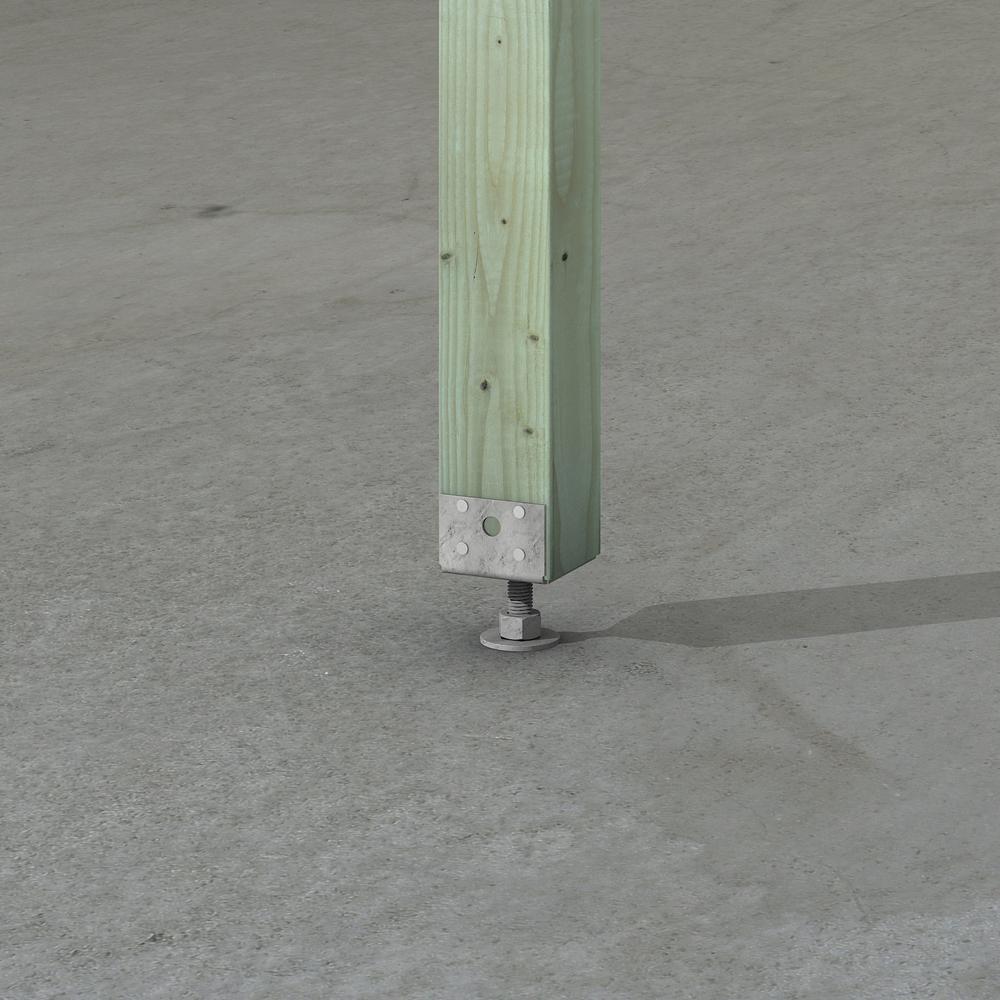EPB Hot-Dip Galvanized Pier-Block Elevated Post Base for 4x4 Nominal Lumber