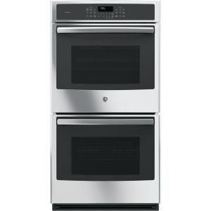 Profile 27 in. Double Electric Smart Wall Oven with Convection (Upper Oven) Self-Cleaning and Wi-Fi in Stainless Steel