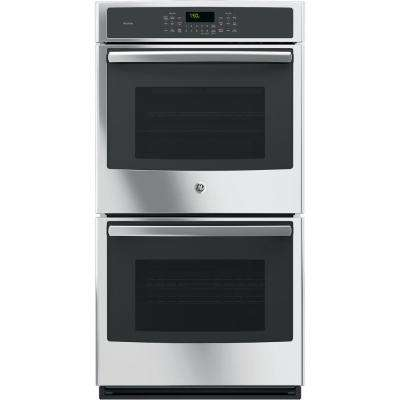 27 in. Double Electric Smart Wall Oven Self-Cleaning with Steam Plus Convection and WiFi in Stainless Steel