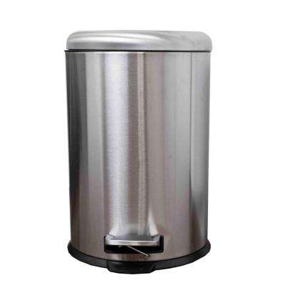5.2  Gal. Stainless Steel Round Trash Can with Dome Lid