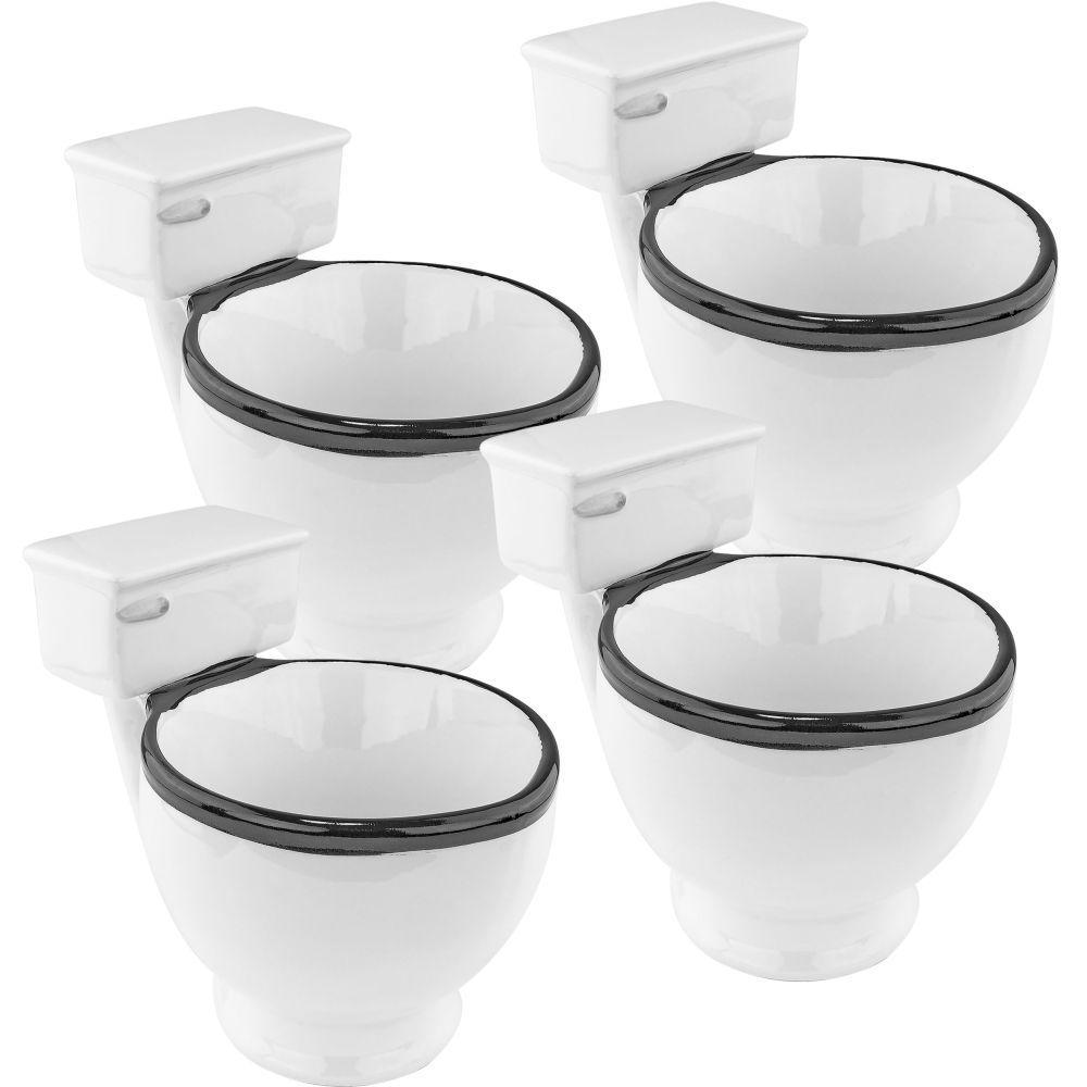 12 oz. Ceramic Toilet Coffee Mug (Set of 4)