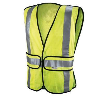 High-Visibility Yellow Polyester Reflective Class 2 Construction Reflective Safety Vest (Case of 5)
