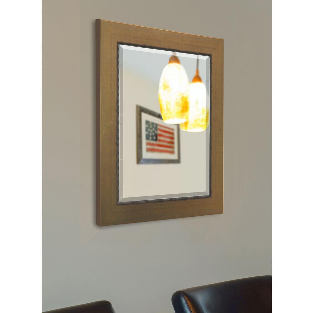 35 in. x 41 in. Golden Lowe Beveled Vanity Wall Mirror