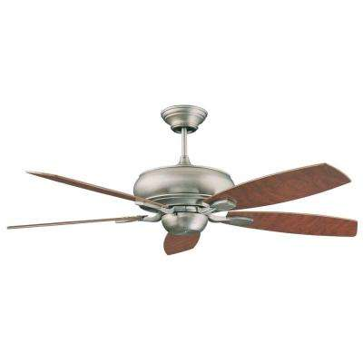 Nevaeh 52 in. Satin Nickel Ceiling Fan with 5 Blades