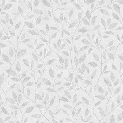 Willow Light Grey Silhouette Trail Paper Strippable Wallpaper (Covers 57.8 sq. ft.)