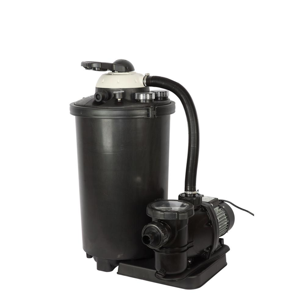 Sand Filter Pump for Above Ground Pools with Multiport Va...