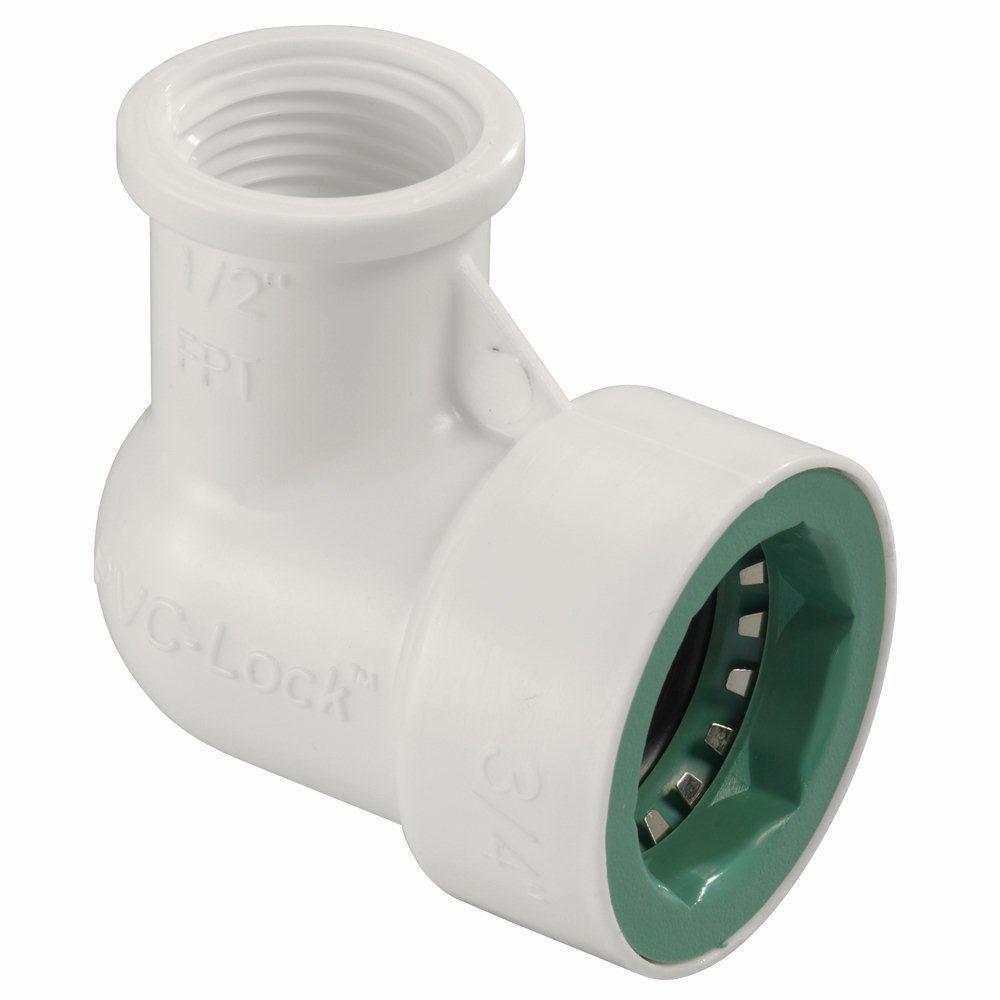 Orbit PVC-Lock 3/4 in. x 1/2 in. FPT 90-Degree Elbow