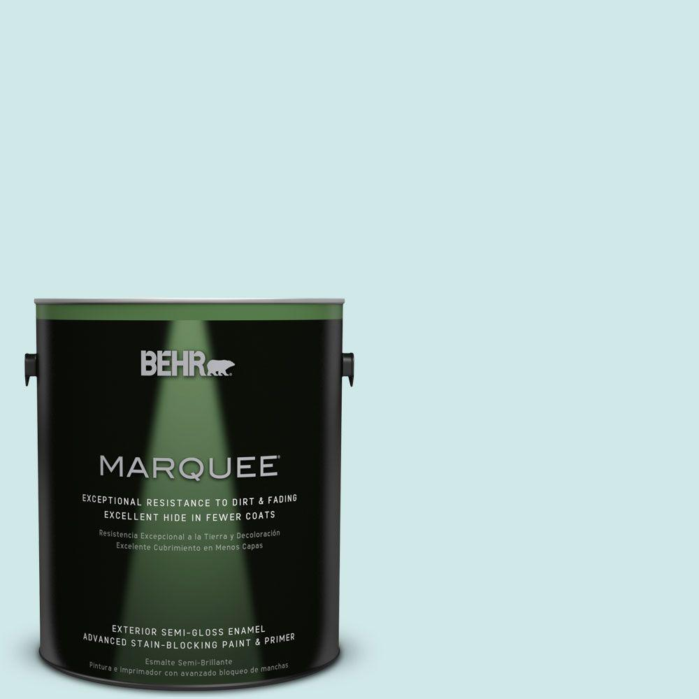 1 gal. #HDC-WR14-5 Icicle Mint Semi-Gloss Enamel Exterior Paint
