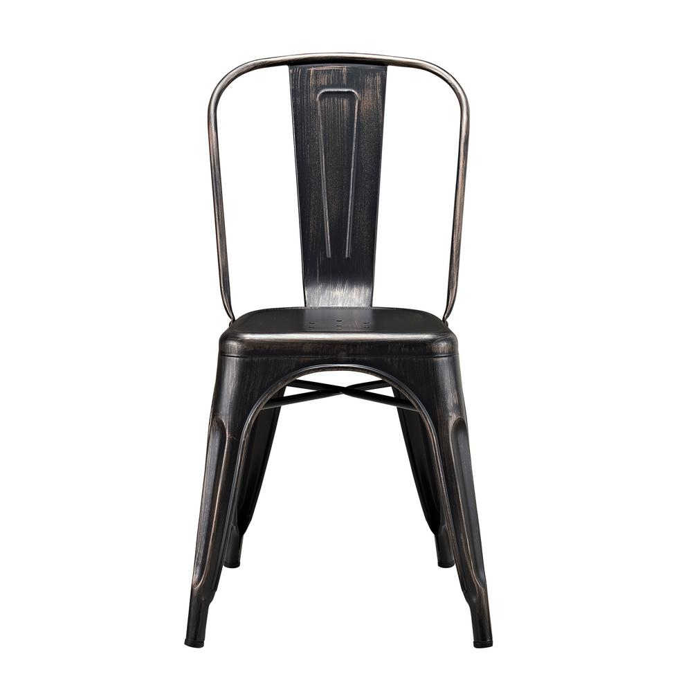 Walker edison furniture company antique black metal dining chair hdh33mcbl the home depot