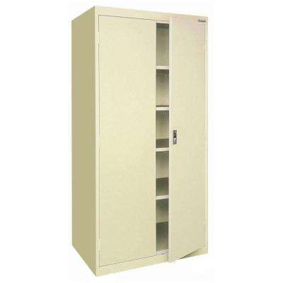 72 in. H x 36 in. W x 18 in. D Freestanding Steel Cabinet in Putty