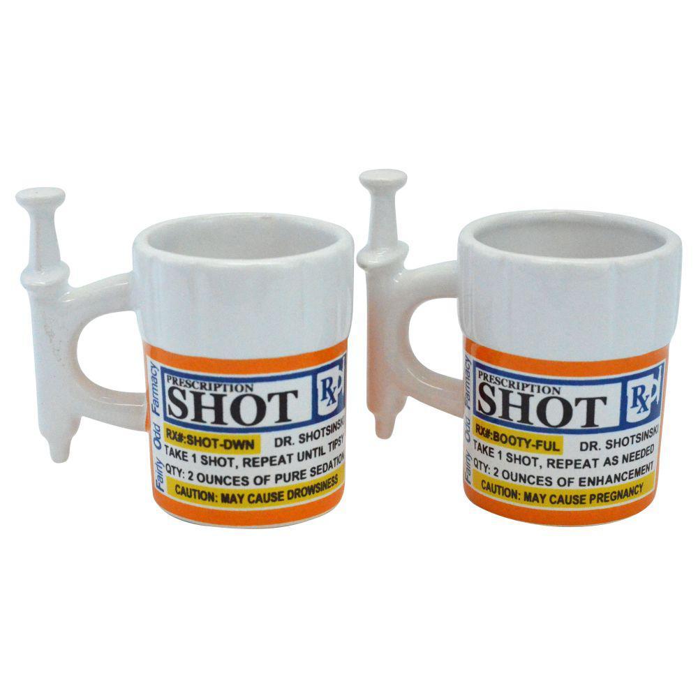 Syringe Prescription Novelty Shot Glasses (2-Pack)